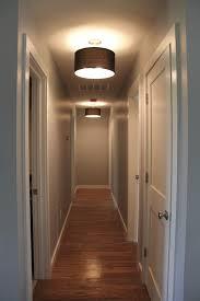 Contemporary Interior Lighting Design With Drum Shades Hallway
