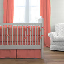Coral Colored Bedding by Solid Coral Crib Bedding Crib Bedding Carousel Designs