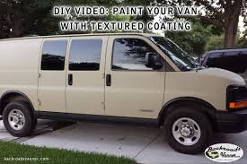 video diy painting a cer van with raptor bed liner