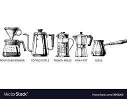 Set Of Coffee Preparation Vector Image