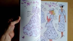 Usborne Vintage Fashion Coloring Book