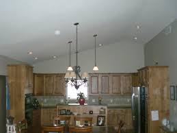 amazing recessed lighting vaulted ceiling kitchen island lighting