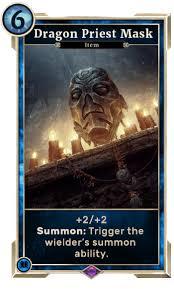 dragon priest mask card legends decks the elder scrolls legends