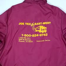 100 West Trucking Vintage 80s Coachs Jacket Joe Tex East Size XL USA