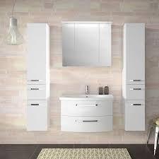 badezimmer set in hochglanz weiß fes 4010 60 mit 80cm keramik waschtis
