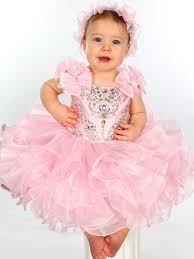 bow straps beaded bodice baby unique fashion pageant gown ufb035