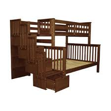 bedz king twin over full stairway bunk bed sears marketplace