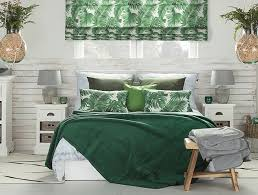 tropical leaves and palm tree patterns bring the