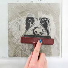 Print Your Lino Onto A Scrap Piece Of Paper Before One Prints This Way You Can See If There Are Any More Areas That Need Carving Out