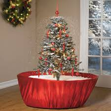 Pre Lit Christmas Tree Rotating Stand by Tabletop Snowing Christmas Tree The Green Head