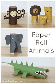 Simple Craft Ideas With Household Items Unique Paper Roll Animals
