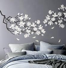 pochoir mural chambre pochoir mural chambre magnolia fleur branche pour mur de newsindo co