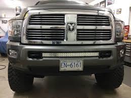 100 Tow Hooks For Trucks 30 Curved LED Light Bar Installed Flush In Between