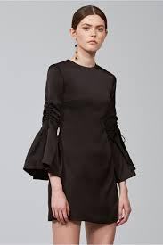 chandelier long sleeve mini dress black keepsake bnkr