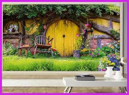 Custom Mural Photo 3d Room Wallpaper Romantic Chalet Garden Ackground Wall Painting Murals