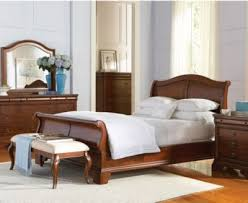 bordeaux louis philippe style king sleigh bed furniture macy s