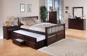 Charming Full Size Trundle Bed — Modern Storage Twin Bed Design