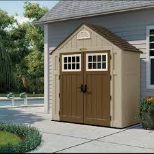 Suncast Garden Shed Taupe by Suncast Alpine 7 5 Ft X 3 5 Ft Resin Storage Shed Lawn