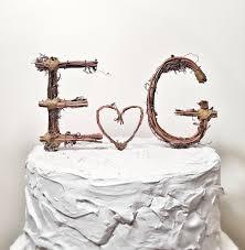 Couple Gift Ideas Rustic Monogram Wedding Cake Topper