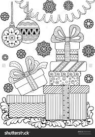 Christmas Coloring Page Shutterstock 350329343