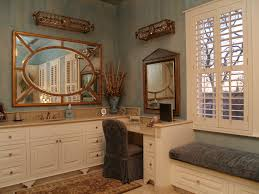 Bath Vanities With Dressing Table by Bathroom Vanity With Makeup Table Bathroom Mediterranean With