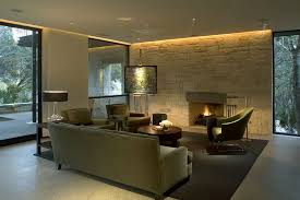 astounding living room design including bright lighting from