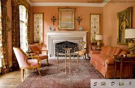 Living Room Colors On The Nild Pink Textile In Discreet Victorian Classic Style