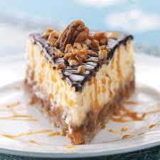 top 10 dessert recipes layered turtle cheesecake recipe taste of home