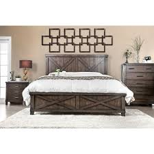 Furniture Of America Hilande Rustic Farmhouse Dark Walnut Bed
