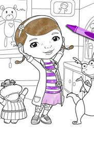 Doc McStuffins School Of Medicine Coloring Page