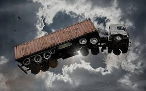 Flying Truck In The Sky Funny Picture