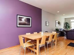 Minimalist Purple Dining Room Design