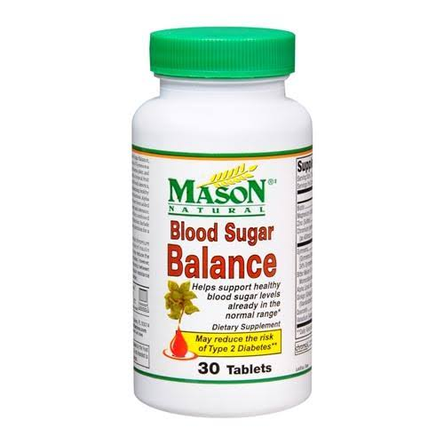 Mason Natural Blood Sugar Balance Dietary Supplement - 30 Tablets