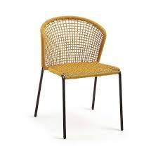 kordel geflecht stuhl in gelb capreran 4er set