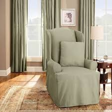 Walmart Parson Chair Slipcovers by Furniture Nice Beige Wingback Chair Slipcover With Ikea Side