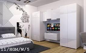 future 11 wohnwand anbauwand wand schrank tv schrank möbel zimmer hochglanz matt schwarz weiß sonoma led rgb beleuchtung 11 hgm w 5 möbel