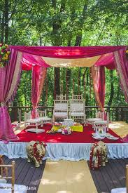 Fountain Side Fusion Indian Wedding Ceremony By STAK Photographer Duo Mahwah New Jersey