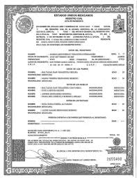 Spanish Birth Certificate V X Trend Uscis Translation Template