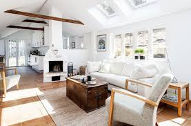 Paint Colors Living Room Vaulted Ceiling by Vaulted Ceiling Living Room Paint Color White Fabric Pillows White
