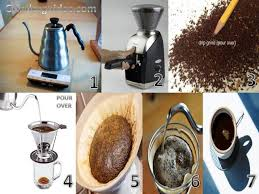 Make Pour Over Coffee Preparation
