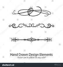 Clip Borderstrickvilla Hand Drawn Vector Flourishes Decorative Calligraphic Stock Wedding Swirl Designs