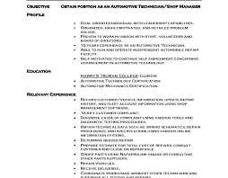 Diesel Mechanic Resume Objective Examples Sample Aircraft Resumes Marine Elevator Mec