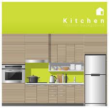 Interior Design Modern Kitchen Background 5 Stock Vektor Premium Vector Interior Design Modern Kitchen Background