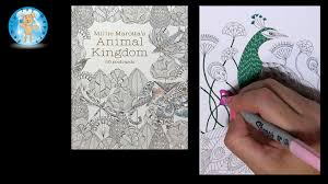 Millie Marottas Animal Kingdom 50 Postcards Adult Coloring Book Peacock