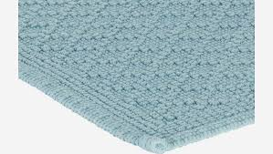 badezimmerteppich aus baumwolle 50 x 80 cm blau