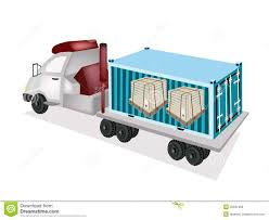 100 Steel Shipping Crates A SemiTrailer Loading Wooden In Cargo Cont Stock