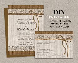 Rustic Rehearsal Dinner Invitations With Choice