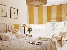 Yellow And White Striped Curtains by Floor And Windows Striped Fabrics Room Decorating Ideas With Stripes