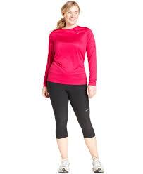 nike plus size dri fit active capri leggings in black lyst