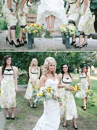 Rustic Wedding With BHLDN Bridesmaid Dresses